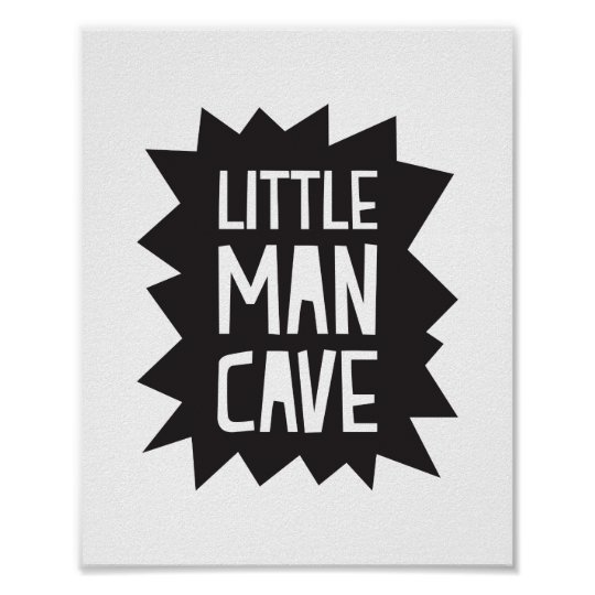 Little Man Cave Poster Print