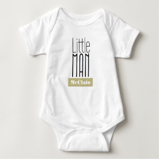 Little Man Custom Name | Boys Bodysuit