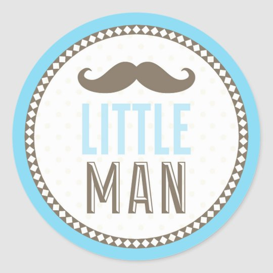 Little man moustache baby round sticker zazzle for Allart center