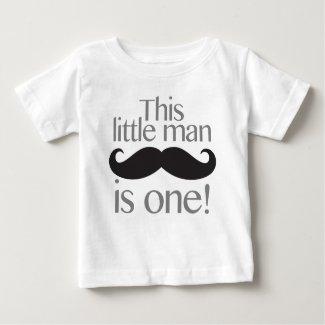 Little Man Moustache T-Shirt