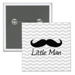 Little Man Moustache Chevron Cute Boys 15 Cm Square Badge