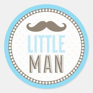 Little Man Mustache Baby Classic Round Sticker