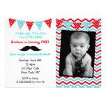 Little Man Mustache Birthday Party Invitations