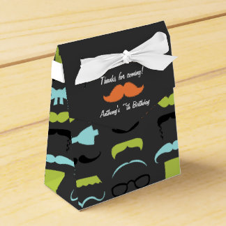 Little Man Mustache Birthday Party Personalized Favour Box