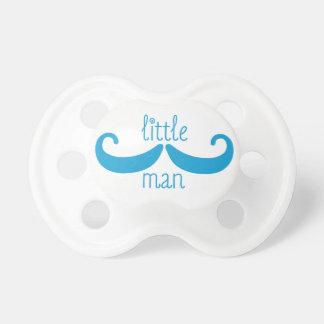 Little Man Mustache Pacifier in Caribbean Blue