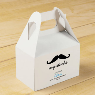 Little Man, Mustache theme Favour Box
