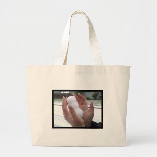 Little Man of Snow Canvas Bag