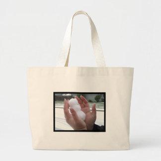 Little Man of Snow Jumbo Tote Bag