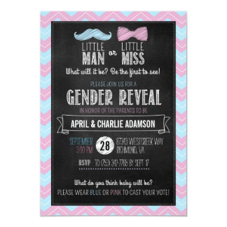 Little Man or Little Miss? Gender Reveal Card