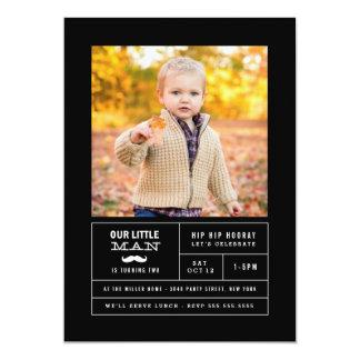 Little Man Photo Birthday 13 Cm X 18 Cm Invitation Card