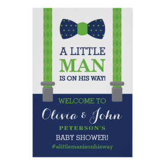 Little Man Welcome Sign Poster, Baby Shower Poster