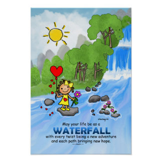 Little Marci The Waterfall Poster