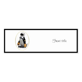Little Mascot Hockey Player Penguin Double-Sided Mini Business Cards (Pack Of 20)