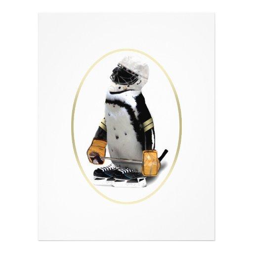 Little Mascot Hockey Player Penguin Full Color Flyer