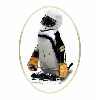 Little Mascot Hockey Player Penguin Photo Cutout