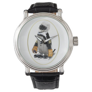 Little Mascot Hockey Player Penguin Watch