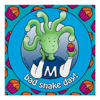 Little Medusa. Bad Snake Day