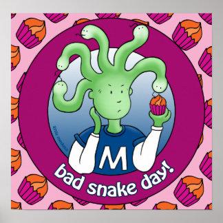 Little Medusa. Bad snake day Poster