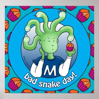 Little Medusa. Bad snake day Print