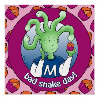 Little Medusa. Bad Snake Day Perfect Poster