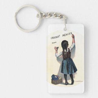Little Menier  Chocolate Girl Single-Sided Rectangular Acrylic Key Ring