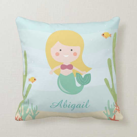 Little Mermaid Baby/Kids Throw Pillow