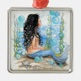 Little Mermaid Blue Design Christmas Ornament