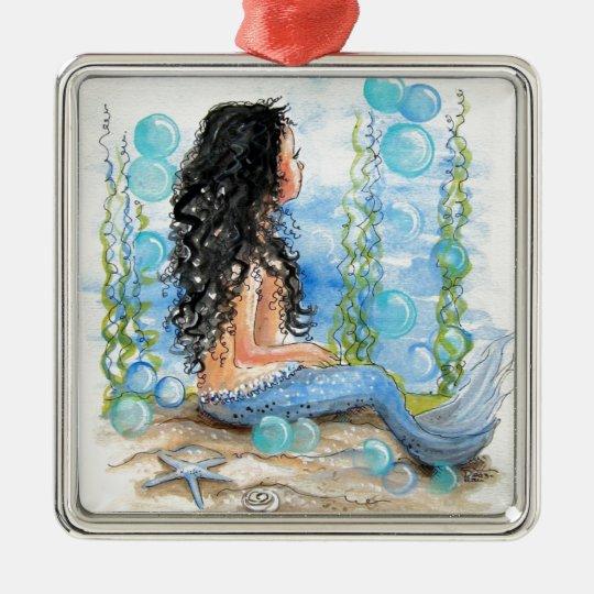 Little Mermaid Blue Design Christmas Ornament