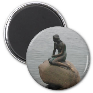 Little Mermaid Copenhagen 6 Cm Round Magnet