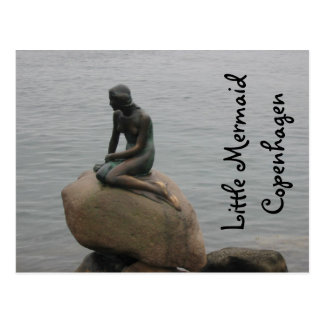 Little Mermaid Copenhagen Postcard