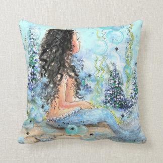 Little Mermaid Holiday BlueThrow Pillow