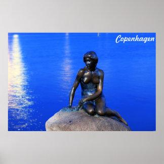 Little mermaid statue, Copenhagen, Denmark Poster