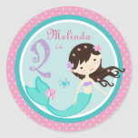 Little Mermaid Sticker Brunette 2