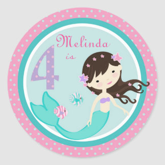 Little Mermaid Sticker Brunette 4