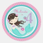Little Mermaid Sticker Brunette 4B