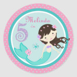 Little Mermaid Sticker Brunette 5