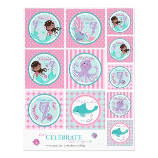 Little Mermaid Topper Template AA7 Flyer