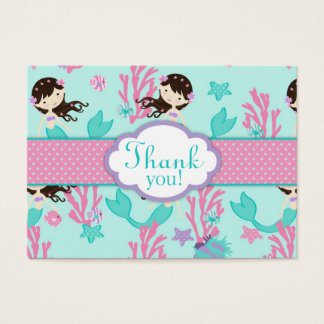Little Mermaid TY Gift Tag L Brunette Business Card