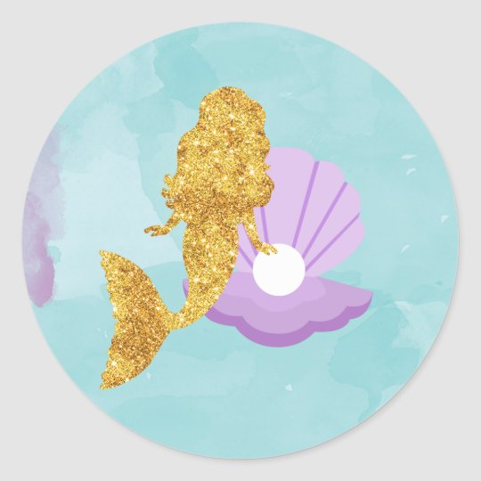 Little Mermaid Under the Sea Party Favour Stickers