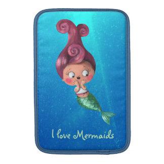 Little Mermaid with Dark Pink Hair Sleeve For MacBook Air