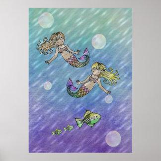 Little Mermaids Poster by Molly Harrison