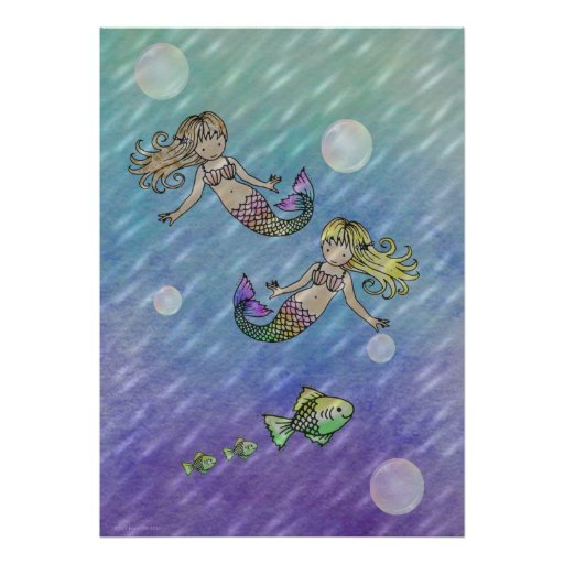 Little Mermaids Poster by Molly Harrison