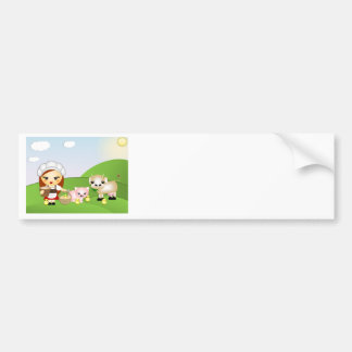 Little Milk Maid and friends Bumper Sticker