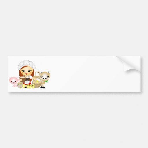 Little Milk Maid Bumper Stickers