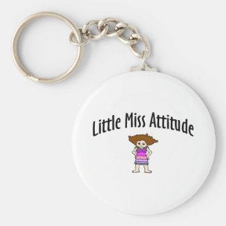 Little Miss Attitude Basic Round Button Key Ring