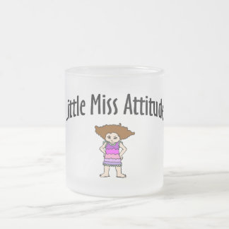 Little Miss Attitude Frosted Glass Mug