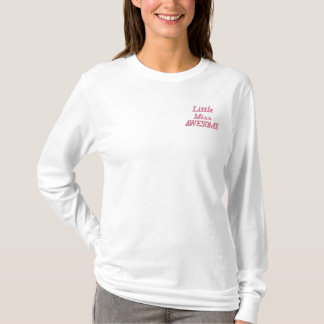 Little Miss Awesome Embroidered Long Sleeve T-Shirt