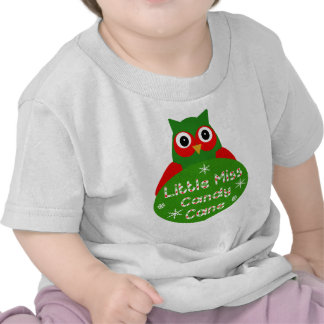 Little Miss Candy Cane Christmas Design T Shirts