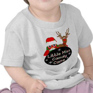 Little Miss Candy Cane T Shirts