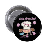 Little Miss Chef Personalise Pinback Button